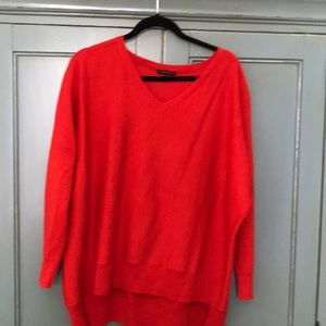 Lovely red Eileen Fisher sweater, size L.